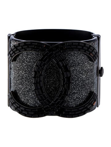 Chanel Crystal CC Cuff