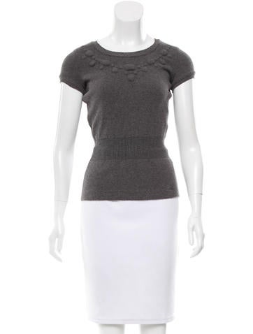 Chanel Wool Short Sleeve Top None