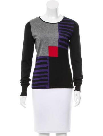 Chanel Cashmere & Silk-Blend Top w/ Tags None