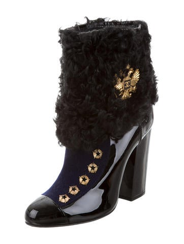 Paris-Moscou Studded Ankle Boots