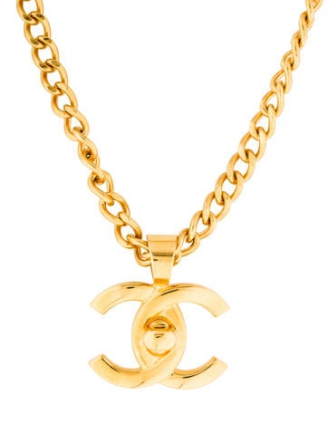 Chanel CC Turn-Lock Chain Necklace
