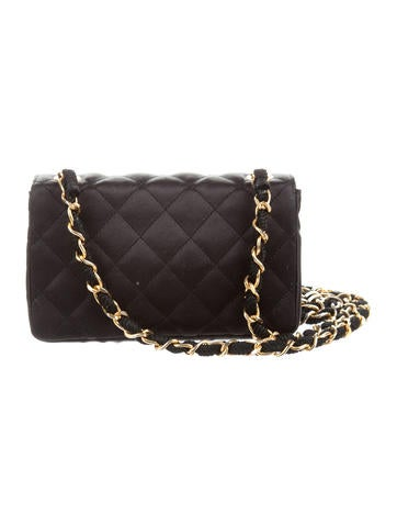 Quilted Satin Mini Flap Bag