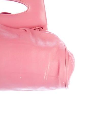 Leather Camellia Clutch