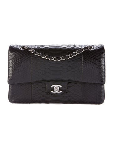 Chanel Python Classic Medium Double Flap Bag