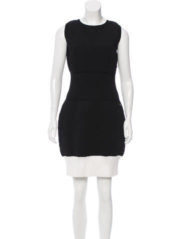 Chanel Matelassé Colorblock Dress None