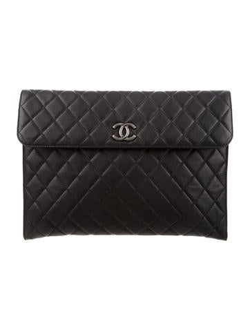 Chanel Quilted Leather Portfolio w/ Tags