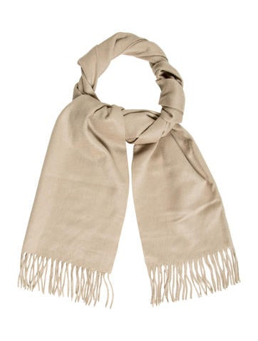 Chanel Beige Fringe Scarf None