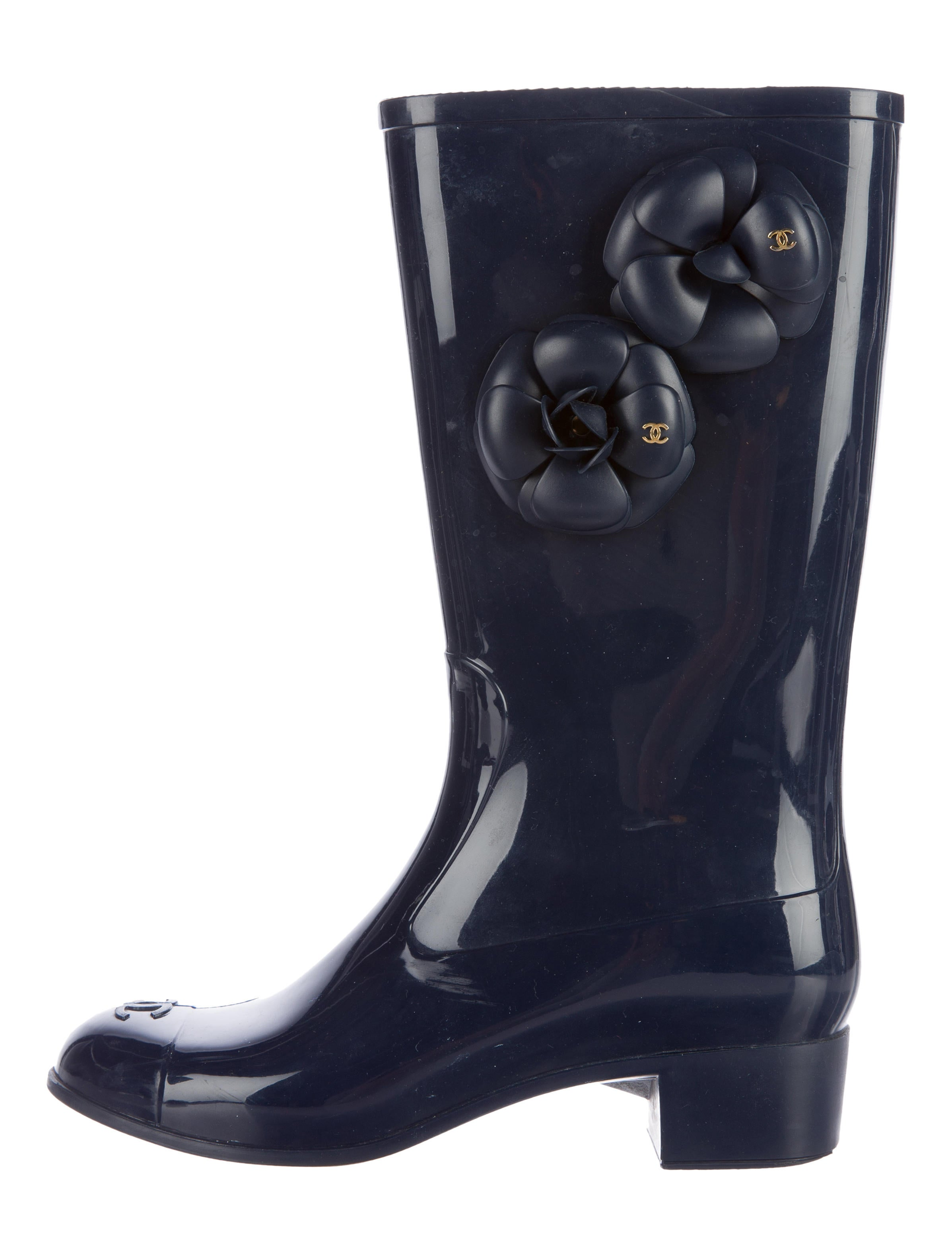 chanel camellia boots shoes cha151895 the realreal