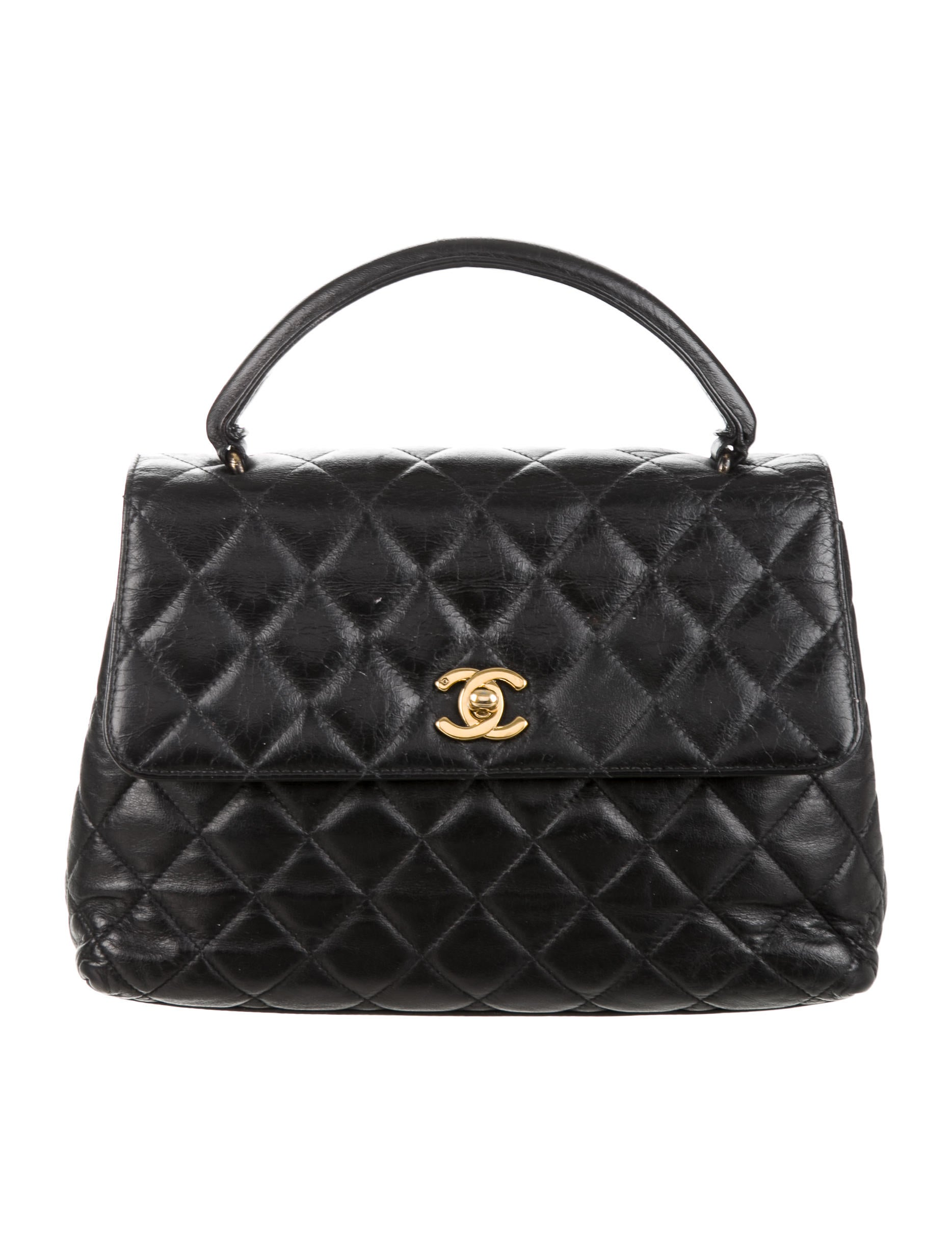 Chanel Vintage Quilted Top Handle Bag Handbags