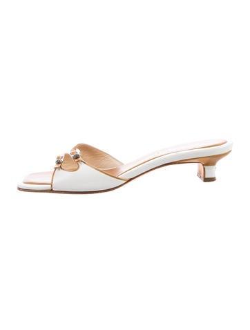 Chanel Camellia Slide Sandals
