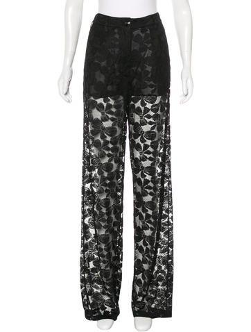 Chanel Lace Wide-Leg Pants