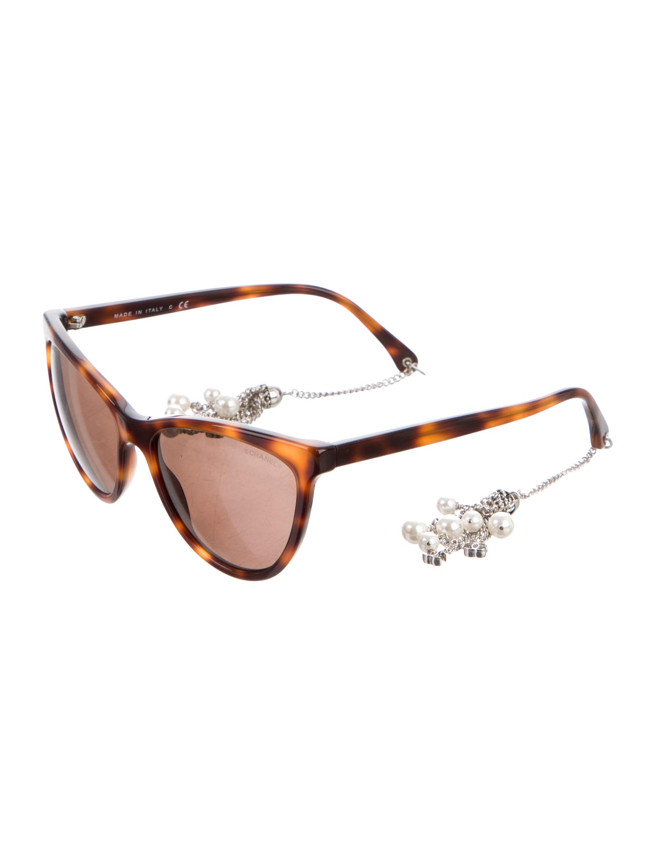98e153cd8557c Chanel Cat-Eye Pearl Sunglasses w  Tags - Accessories - CHA154347