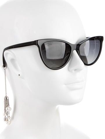 Cat-Eye Pearl Sunglasses w/ Tags
