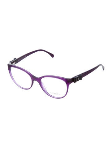 chanel cat eye bow accented eyeglasses w tags