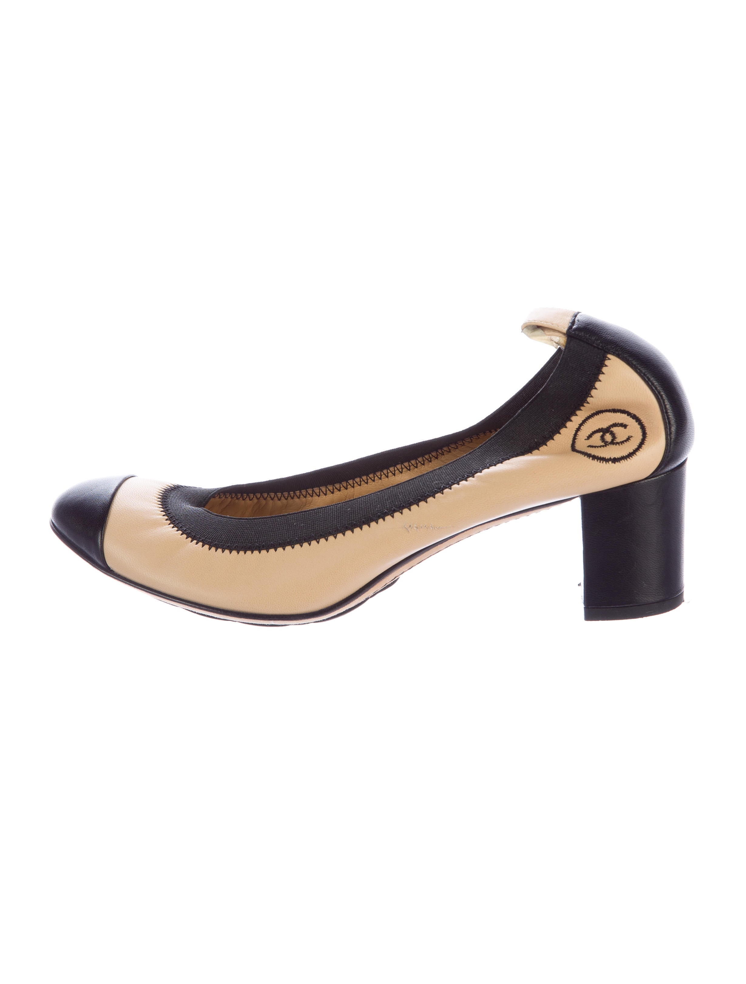 chanel leather stretch spirit pumps shoes cha154671