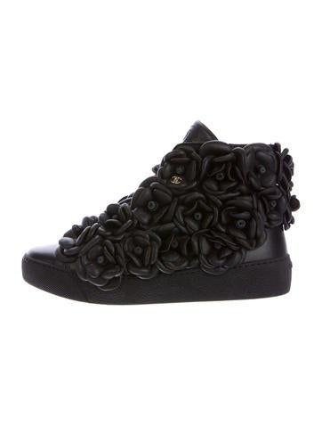 Camellia High-Top Sneakers