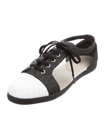 Cap-Toe Cutout Sneakers