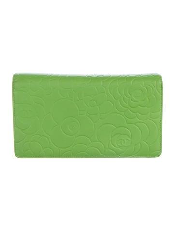 Lambskin Camellia Yen Wallet