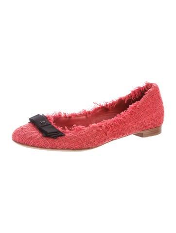 Tweed Round-Toe Flats