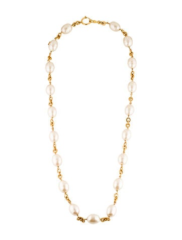 Chanel Pearl Station Necklace