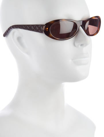 Quilted Oval Sunglasses