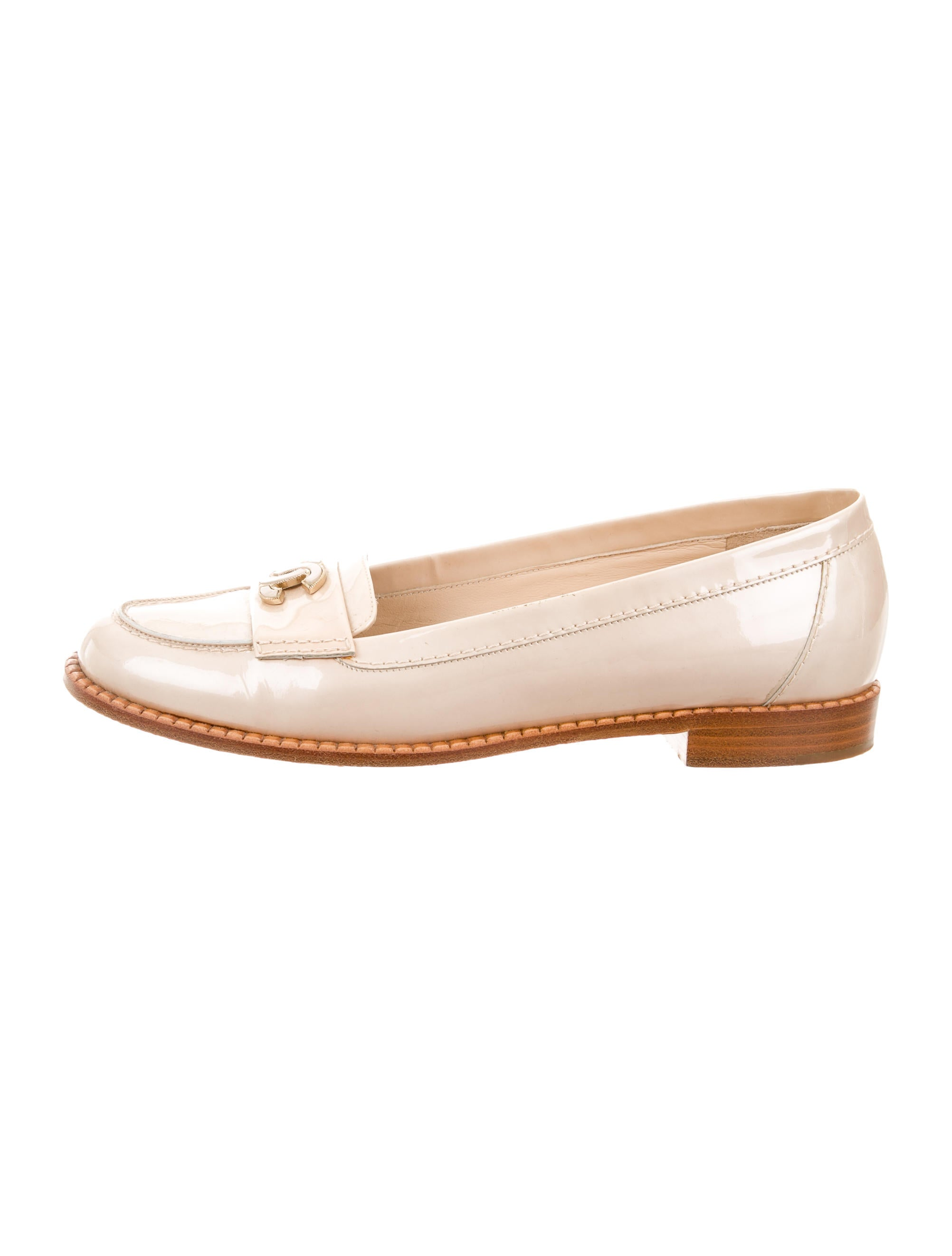 Chanel Patent Leather CC Loafers - Shoes - CHA155853 | The RealReal