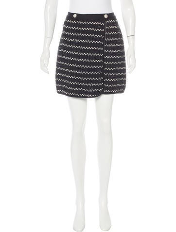 Chanel Knit Wrap Skirt None