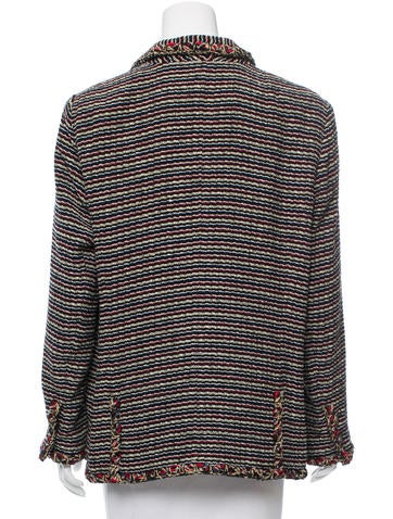 Striped Tweed Blazer