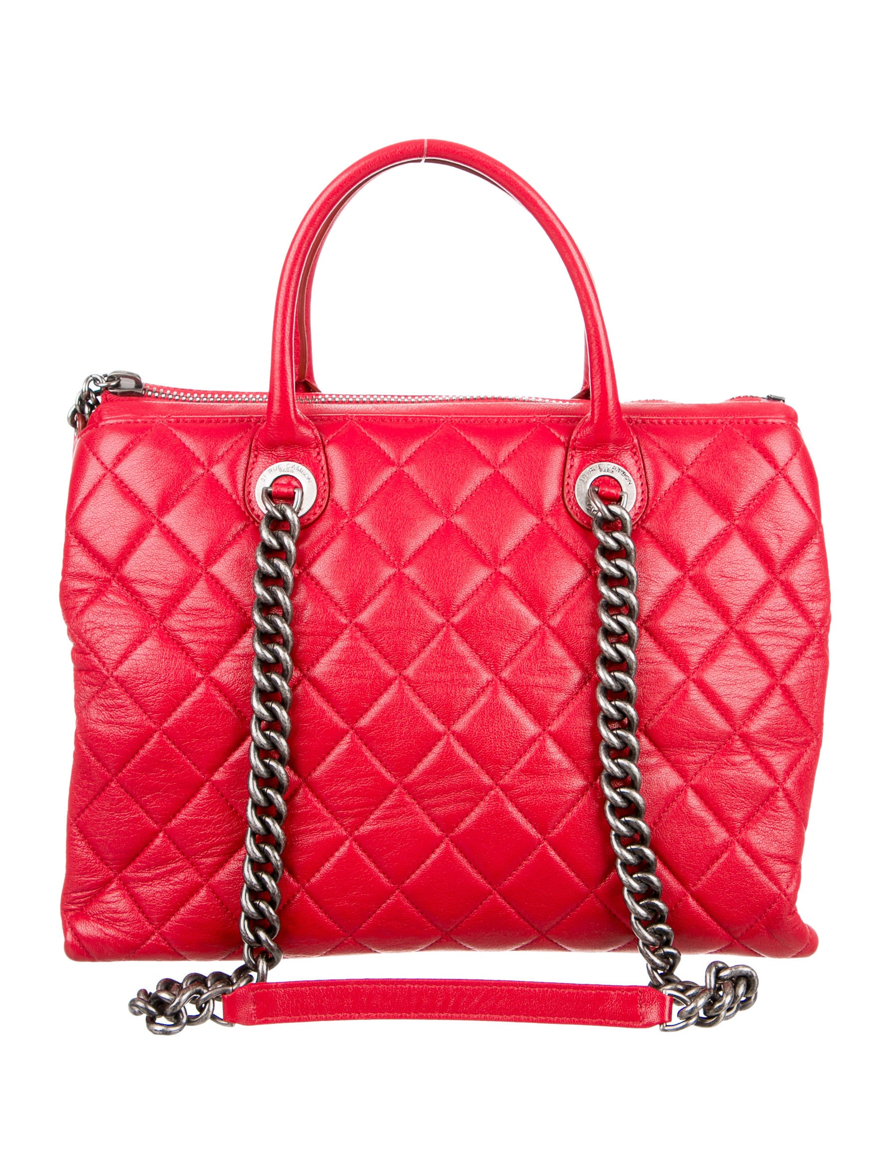 Chanel Quilted Zip Shopping Tote Handbags CHA157284  : CHA1572841enlarged from www.therealreal.com size 1786 x 2356 jpeg 536kB