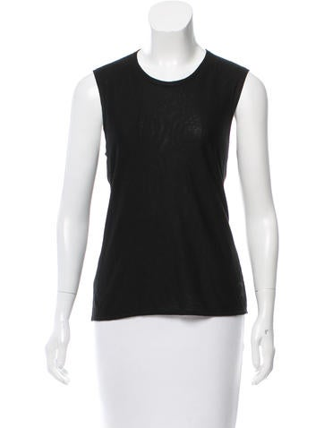 Chanel Embroidered Cashmere Top None
