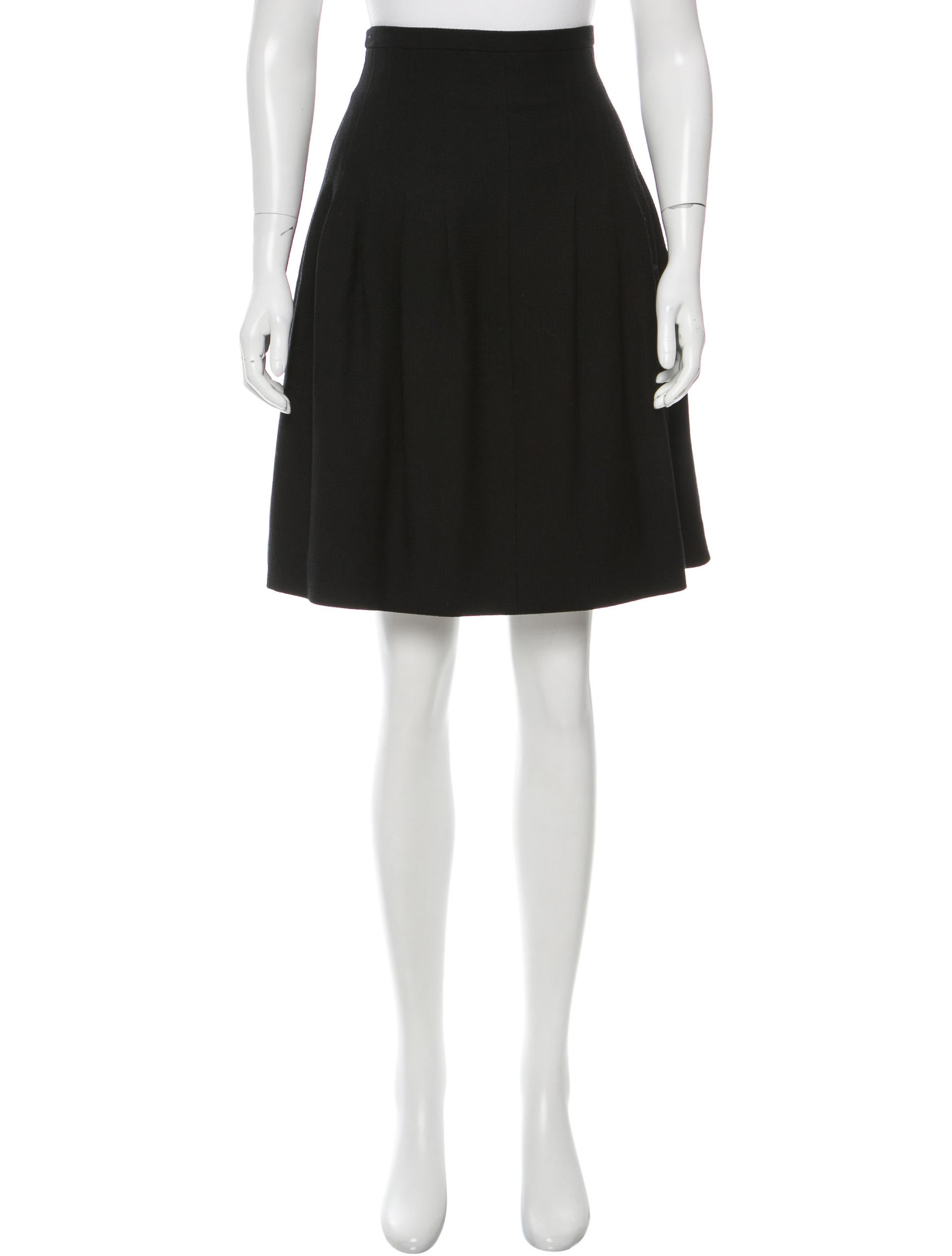 chanel wool blend pleated skirt clothing cha157580