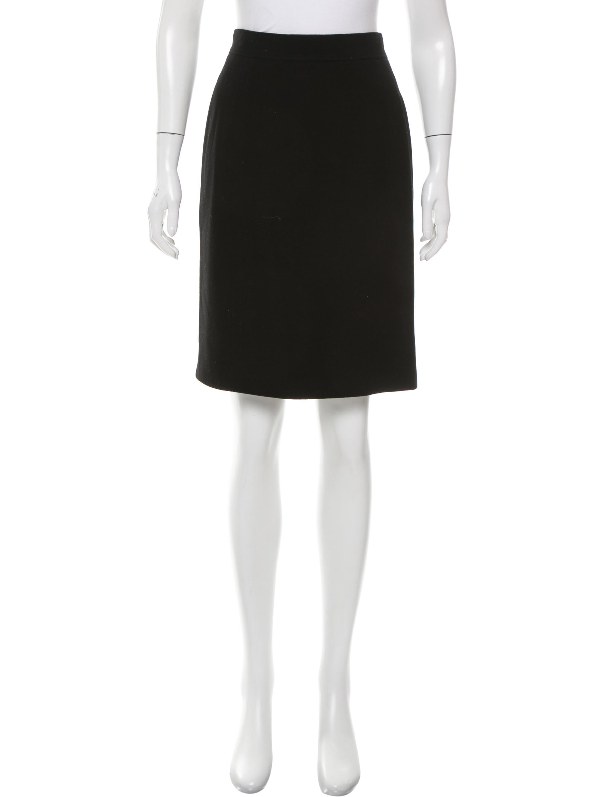 chanel high waist knee length skirt clothing cha157616