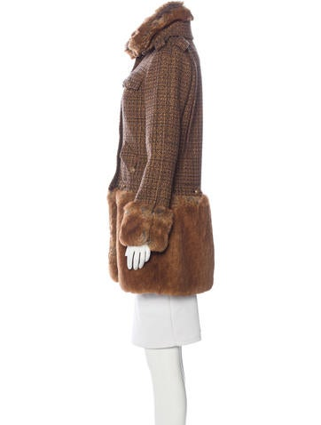 Tweed Fantasy Fur Coat