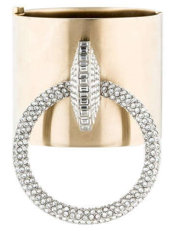 Chanel Crystal Door Knocker Cuff