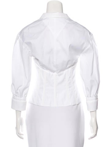 Long Sleeve Button-Up Top w/ Tags