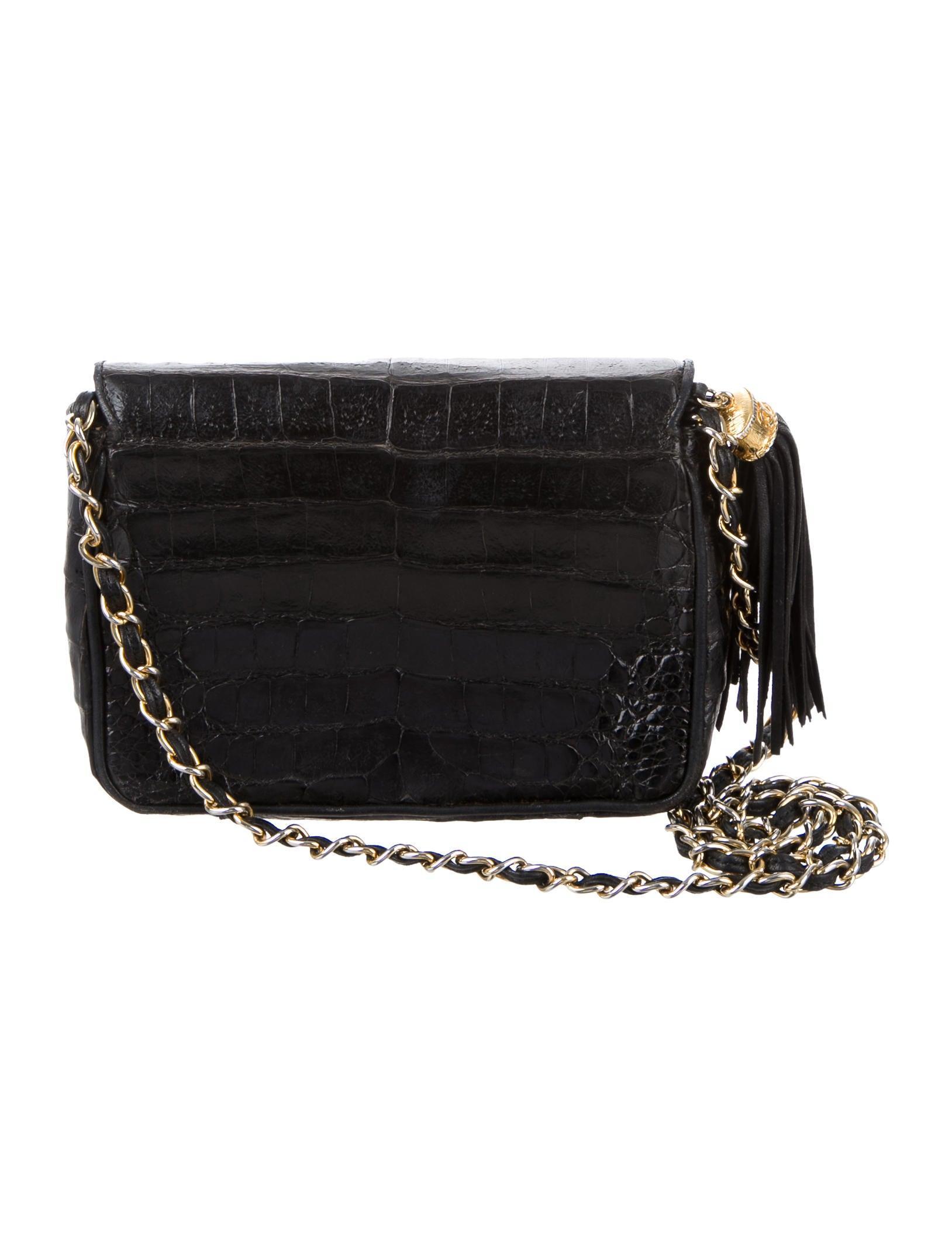 chanel crocodile flap bag handbags cha157919 the
