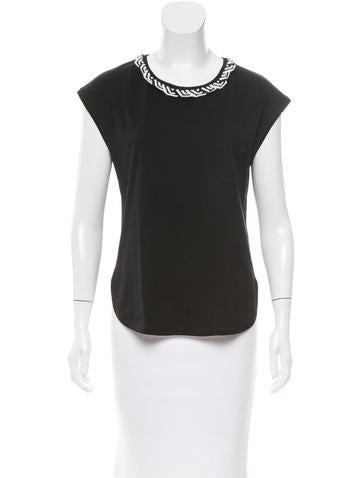 Chanel Crystal-Embellished Sleeveless Top None