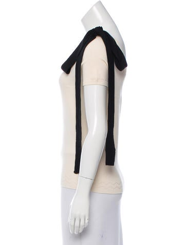 Wool One-Shoulder Top