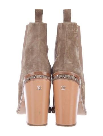Chain-Link Ankle Boots