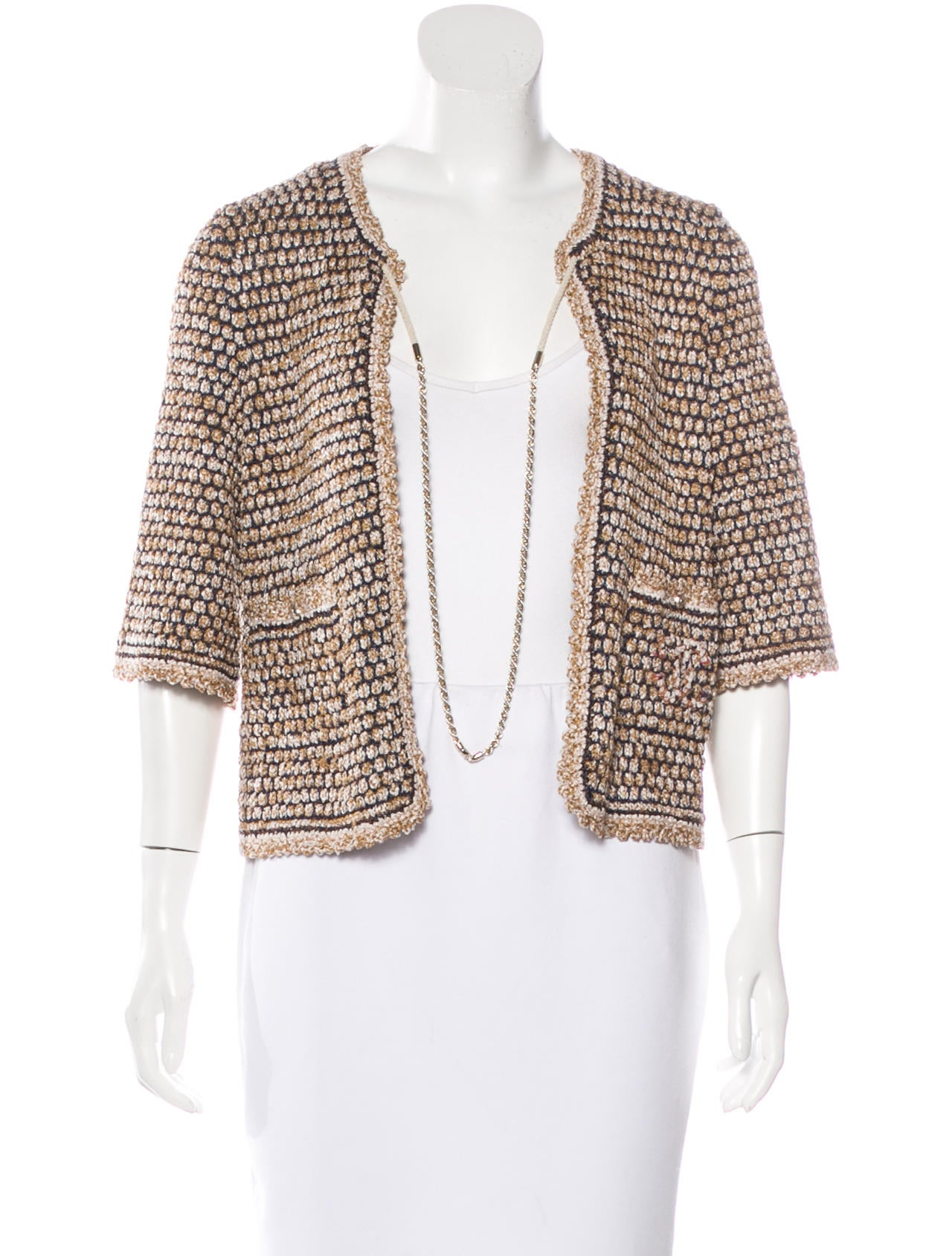 Chanel Embellished Knit Cardigan - Clothing - CHA158312 The RealReal