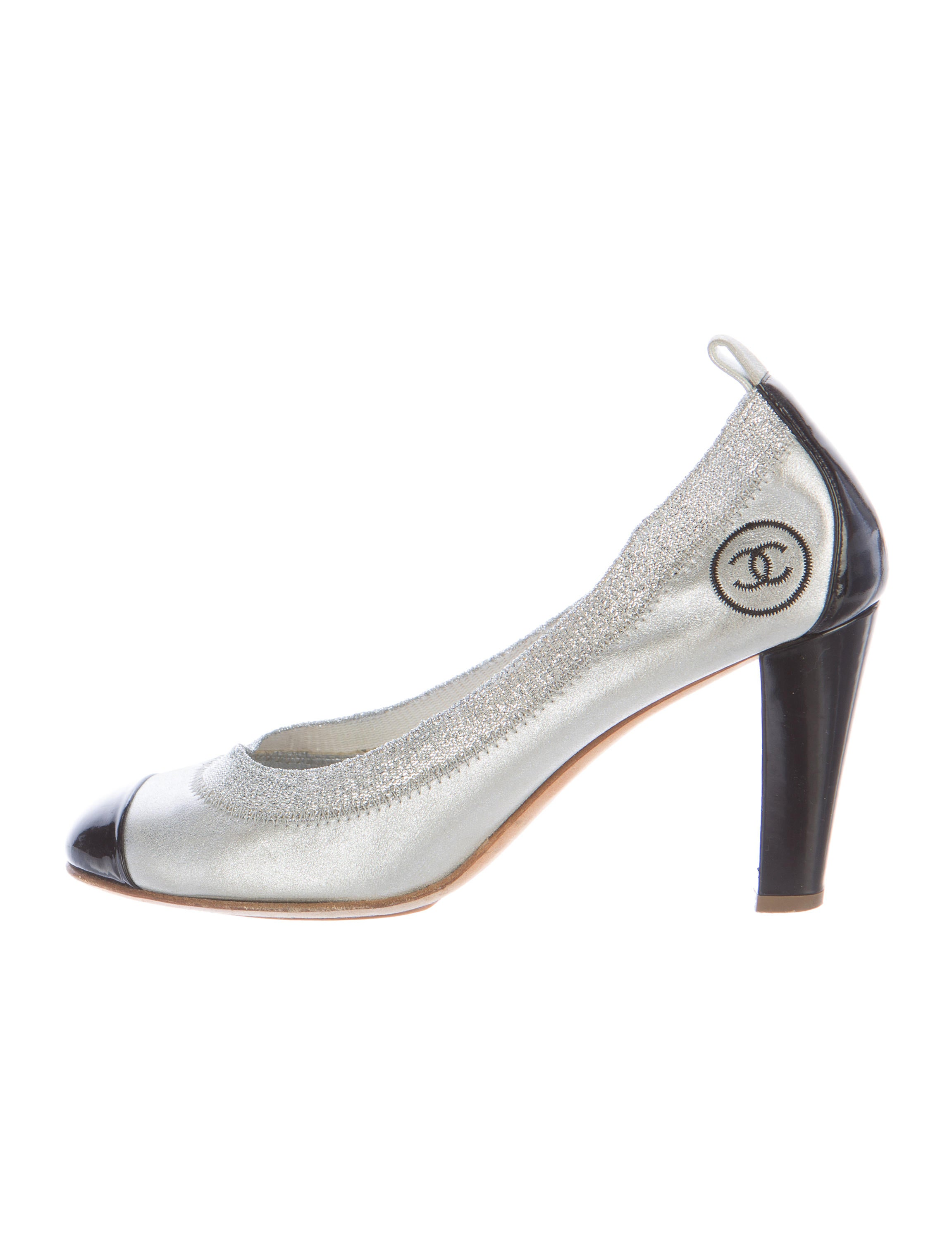 chanel metallic stretch spirit pumps shoes cha158360