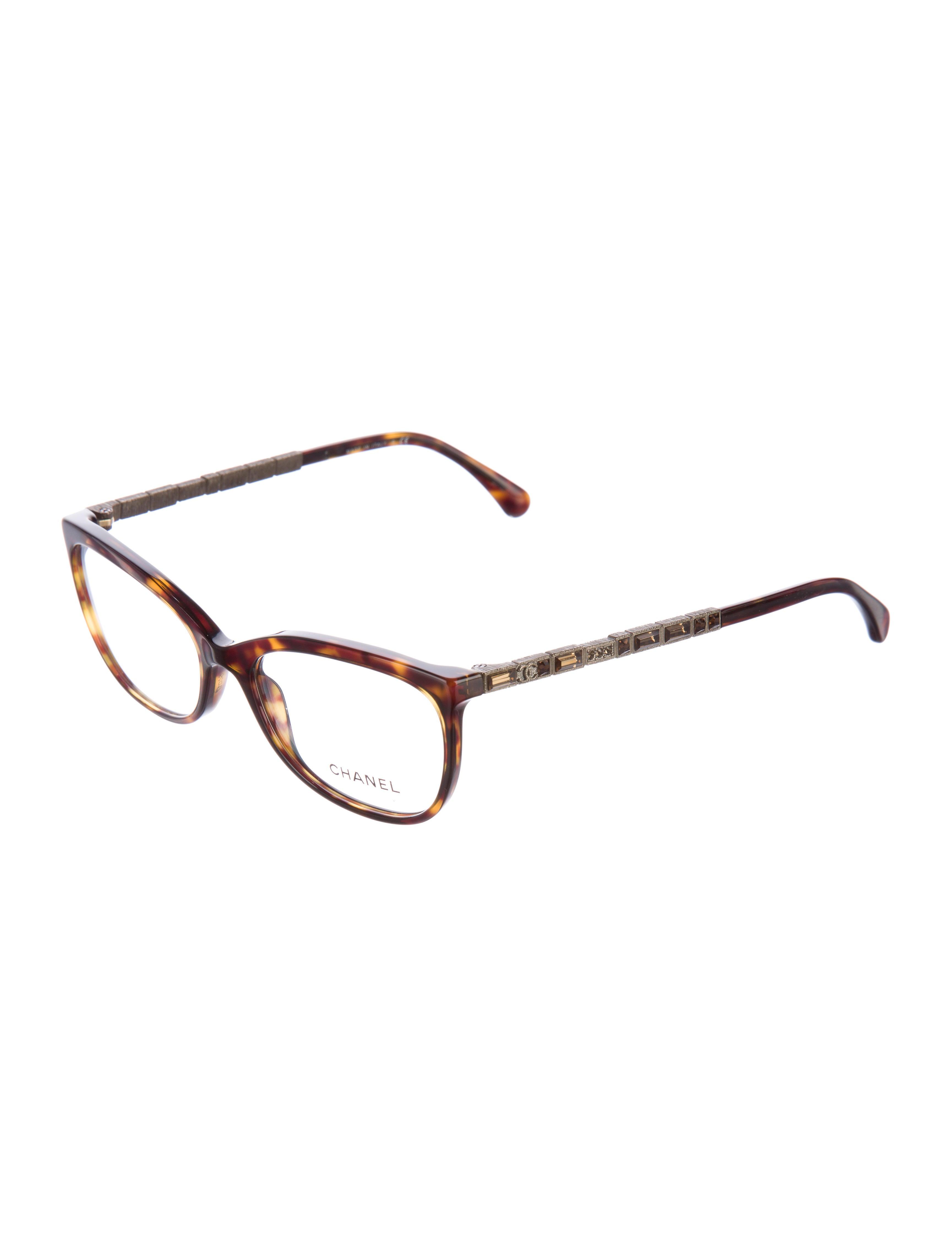 chanel embellished cat eye eyeglasses accessories