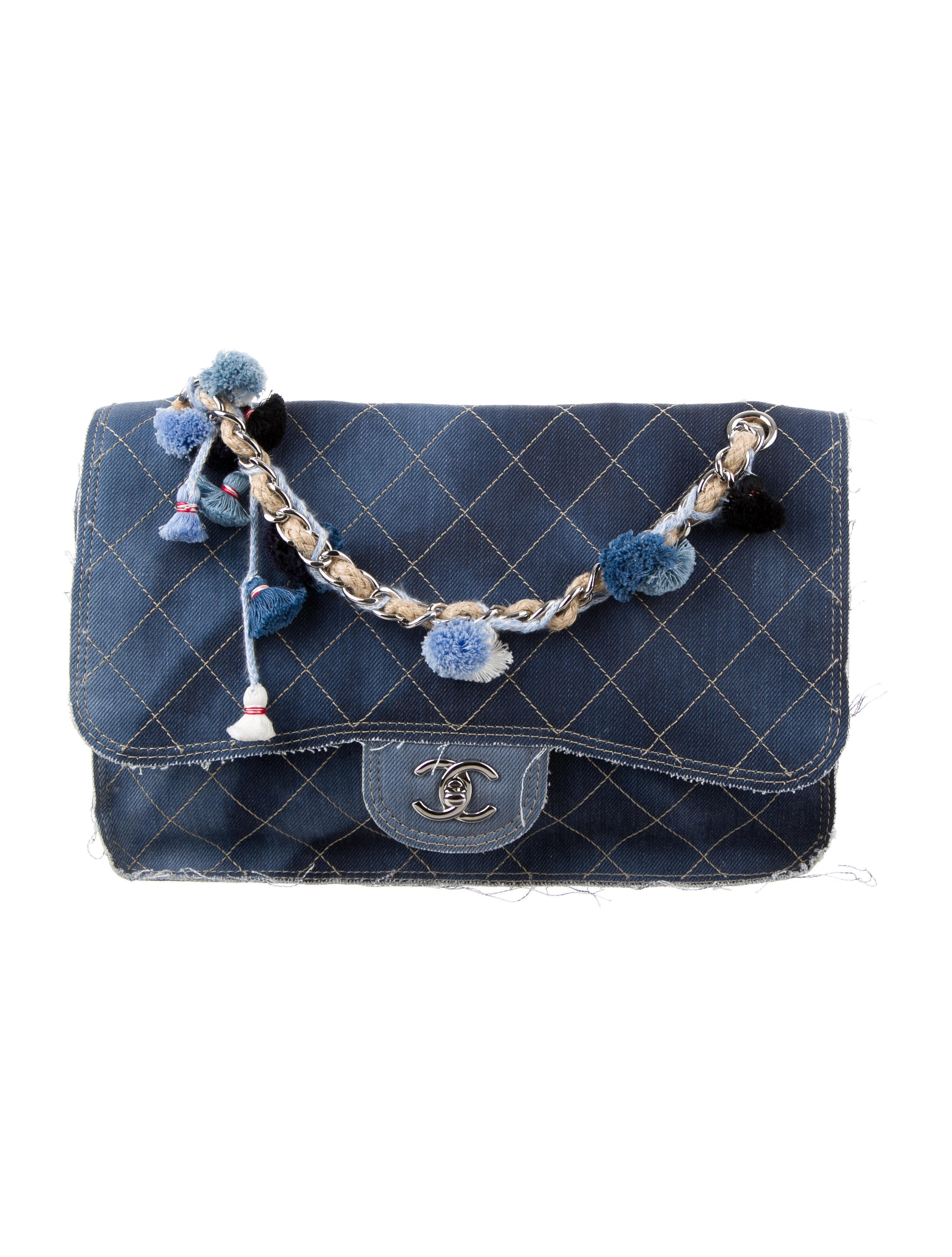 0419107dc7ec Chanel 2015 Large Paris-Dubai Denim Flap Bag - Handbags - CHA159007 | The  RealReal