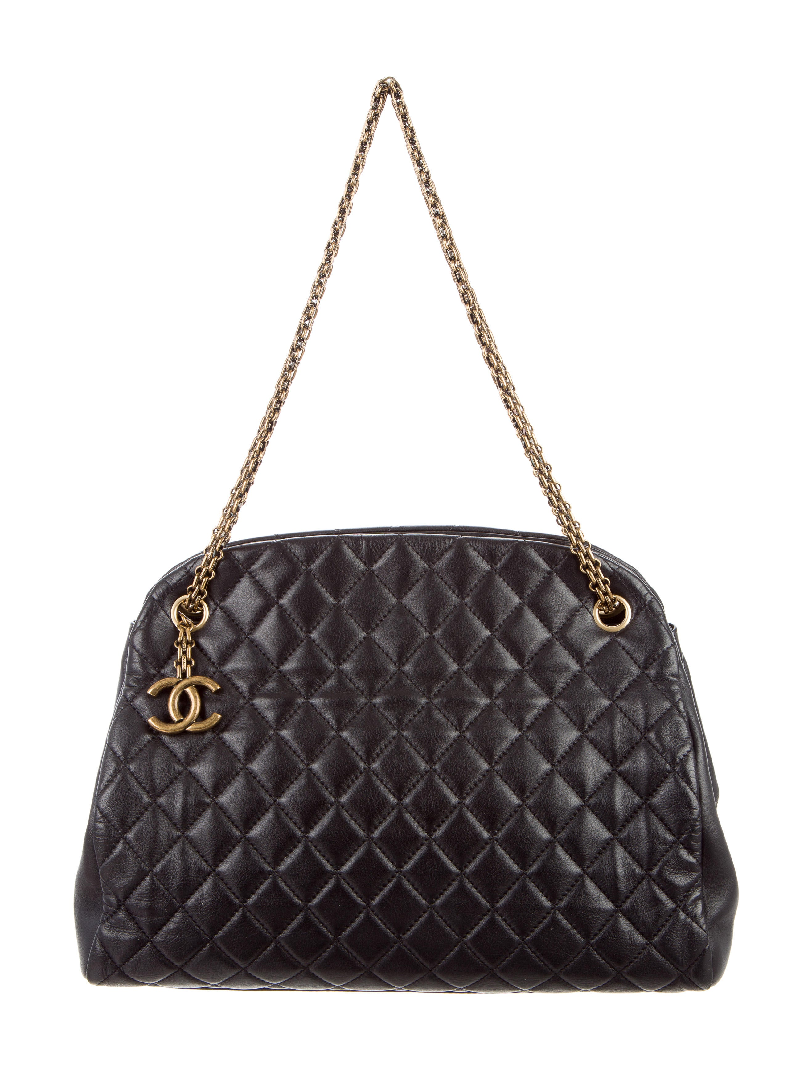 Chanel Large Grocery Shopping Basket W Tags: Chanel Just Mademoiselle Large Bowler Bag