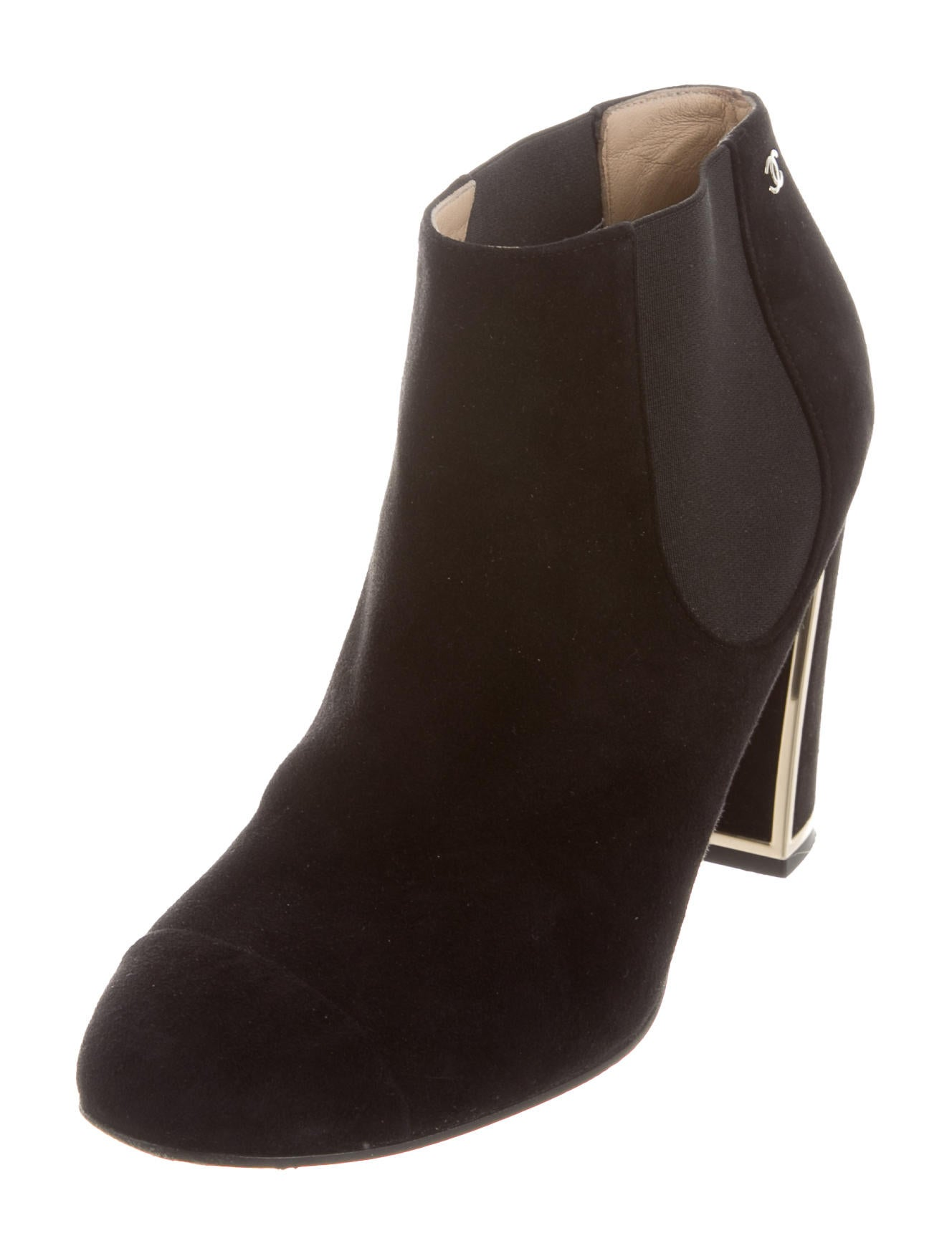 chanel suede ankle boots shoes cha159879 the realreal