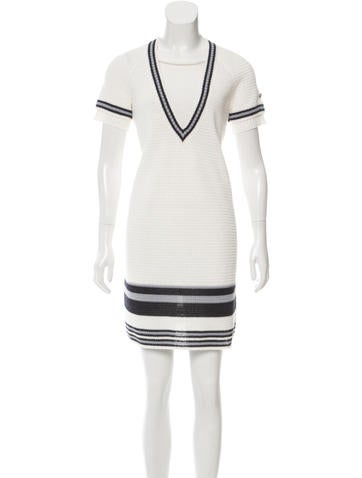 Chanel Open Knit Mini Dress None