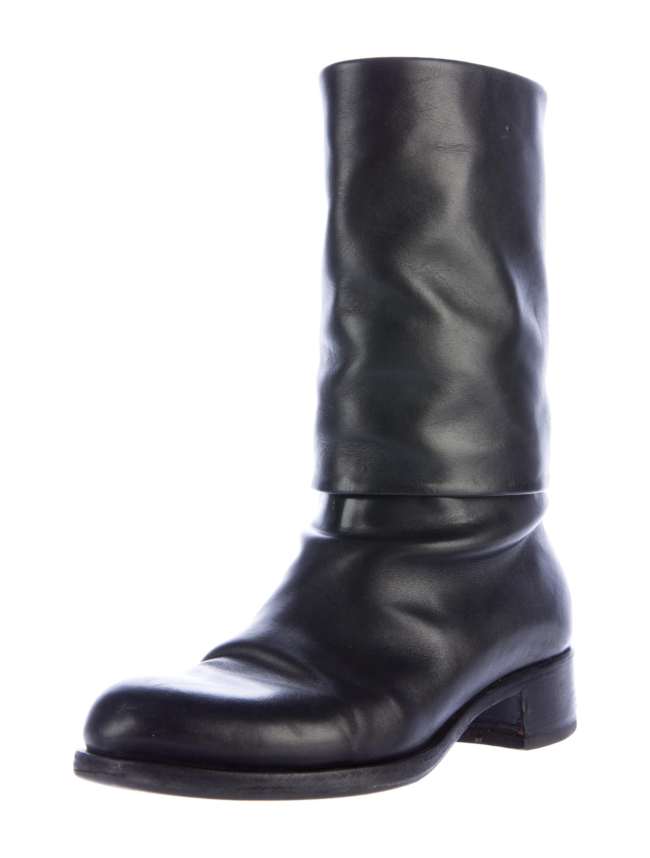 chanel cc ankle boots shoes cha160033 the realreal