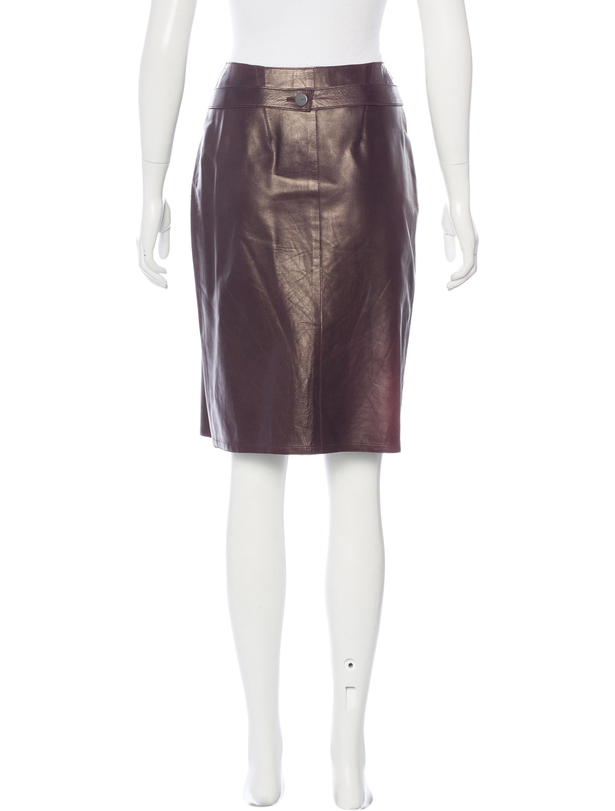 chanel leather wrap skirt clothing cha160041 the