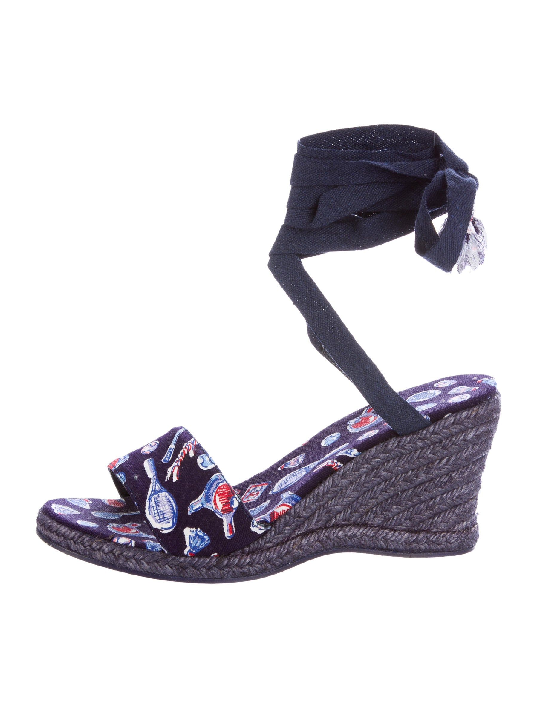 chanel espadrille wedge sandals shoes cha160043 the