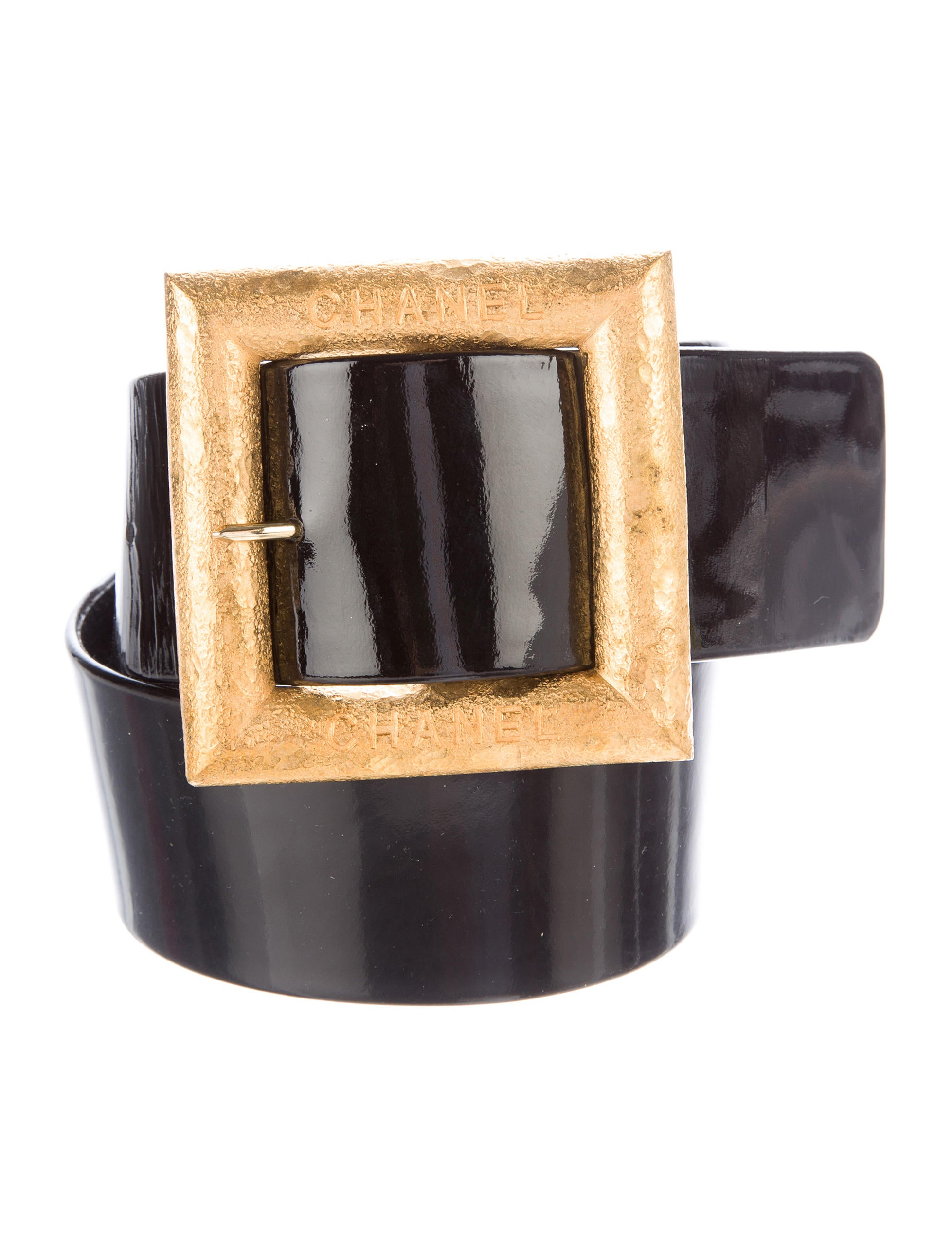 chanel wide patent leather belt accessories cha160107